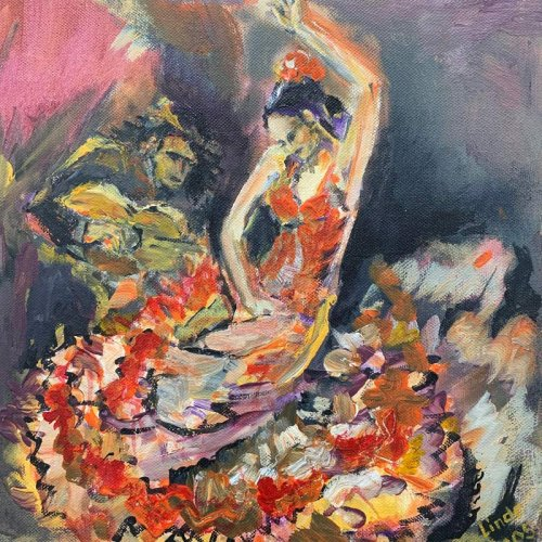 Simone Wolff, Malerei, zur Bildergalerie Linde König Hannover